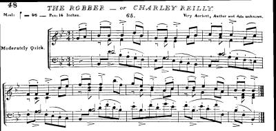 "10. ""The Robber - Charles Reily"", from: Edward Bunting, The Ancient Music of Ireland, Dublin 1840, No. 65, p. 48)"