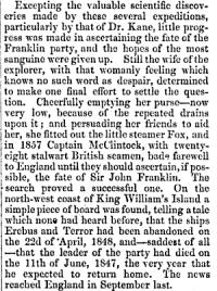 1. From: Lady Jane Franklin, in: The Living Age, No. 852, Boston, 29. 9. 1860, p. 823